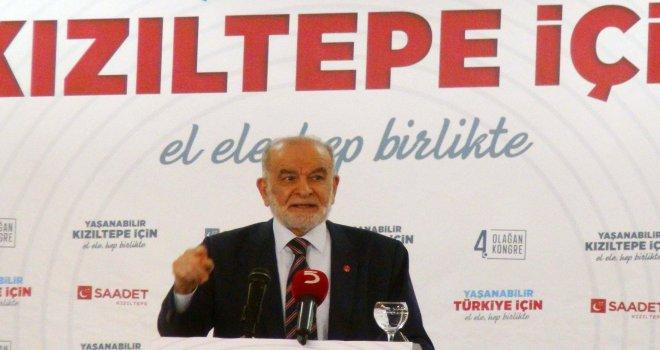 Saadet Partisi Genel Başkanı Karamollaoğlu Kızıltepe'de
